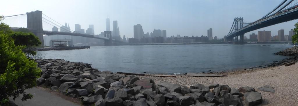 Blick von Brooklyn auf Manhattan