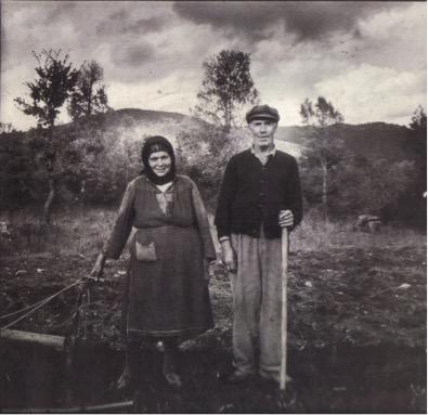 Elke Geiger: Bauernpaar, Sparta, um 1980, Fotografie