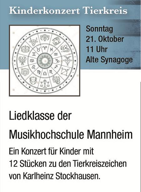 2. Hirschberger Liedfest _____________________________ Tierkreis - Konzert für Kinder @ Alte Synagoge Hirschberg | Hirschberg an der Bergstraße | Baden-Württemberg | Deutschland