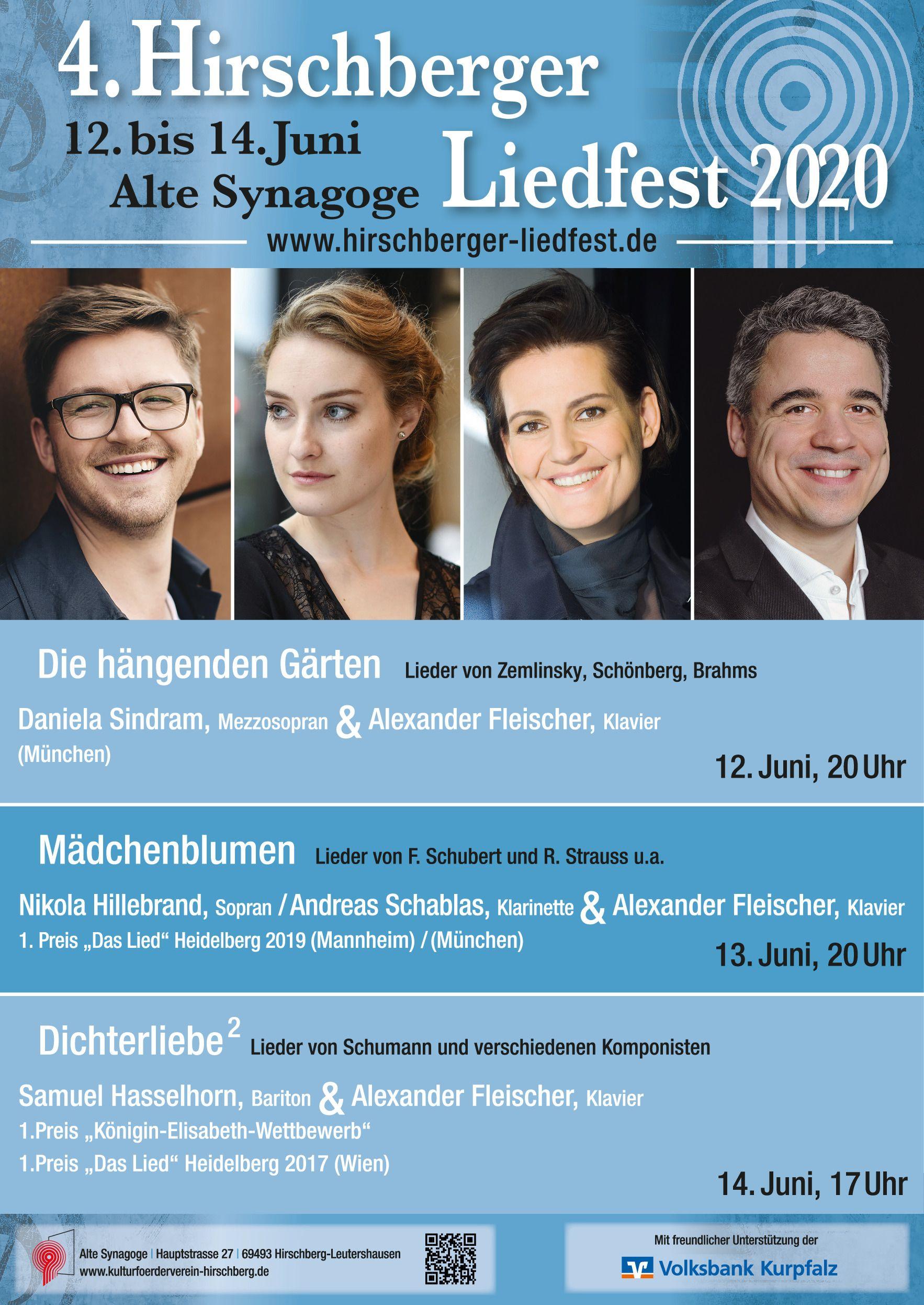 4. Hirschberger Liedfest ____________________________ ELYSIUM @ Alte Synagoge Hirschberg | Hirschberg an der Bergstraße | Baden-Württemberg | Deutschland