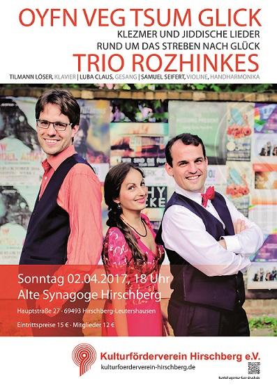 Klezmermusik der Gruppe Rozhinkes _____________________________________ Konzert @ Alte Synagoge Hirschberg | Hirschberg an der Bergstraße | Baden-Württemberg | Deutschland